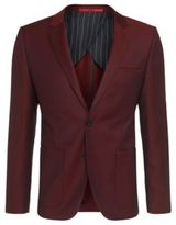 Hugo Boss Antano Slim Fit, Wool Contrast Twill Sport Coat 38R Red