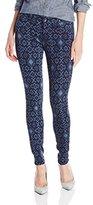 Big Star Women's Alex Mid Rise Skinny Jean In Pendleton Print