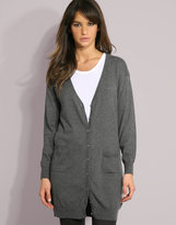 Soaked In Luxury Angora Mix Longline Boyfriend Cardigan