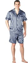 Noble Mount Mens Premium Satin Short Pajama Set