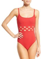 Karla Colletto Celeste Round-Neck One-Piece Swimsuit