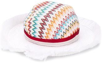 Missoni Mare Zig-Zag Woven Sun Hat
