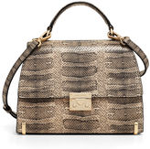 Henri Bendel Waldorf Snake Embossed Top Handle Satchel
