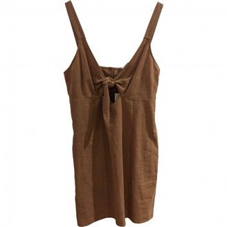 AUGUSTE Brown Linen Dress for Women