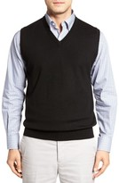 Peter Millar Men's Merino Wool V-Neck Vest