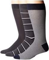 Lacoste 3-Pack Striped Jersey Cotton Blend Socks Men's Crew Cut Socks Shoes
