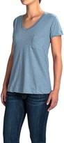 Workshop Republic Clothing V-Neck Pocket Shirt - Short Sleeve (For Women)