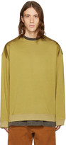 Yeezy Green Pleated Jersey Crewneck Pullover