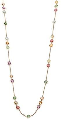 Marco Bicego Jaipur Semi-Precious Multi-Stone & 18K Yellow Gold Long Station Necklace