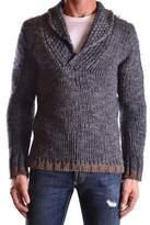 Daniele Alessandrini Men's Grey Wool Sweater.