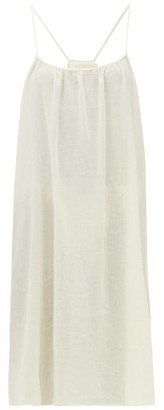 Loup Charmant Scoop-neck Cotton-poplin Slip Dress - Ivory