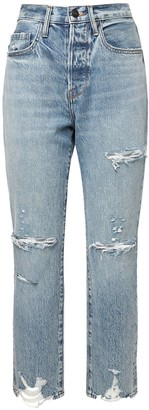 Frame Le Orginal Distressed Straight Jeans