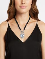 Marks and Spencer Diamanté Heart Pendant T-Bar Necklace