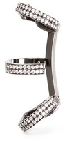 Repossi 'Berbère' diamond black gold 3-hoop ear cuff