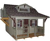 Little Cottage Company Craftsman DIY Playhouse Kit, 11' x 8'