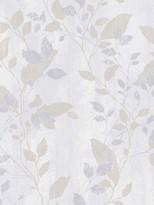 Boutique Vermeil Leaf Grey Wallpaper