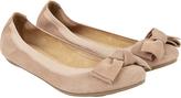 Accessorize Olivia Elasticated Suede Bow Ballerina Flats