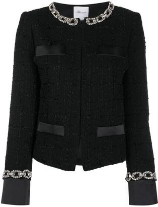 Blumarine Stud-Embellished Tweed Jacket