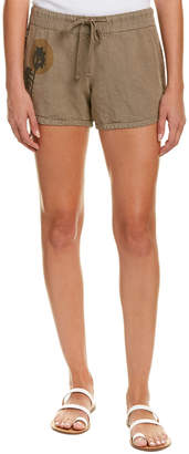 James Perse Printed Linen Dolphin Short