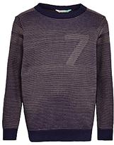 John Lewis Boys' Ottoman Striped Knitted Jumper, Blue