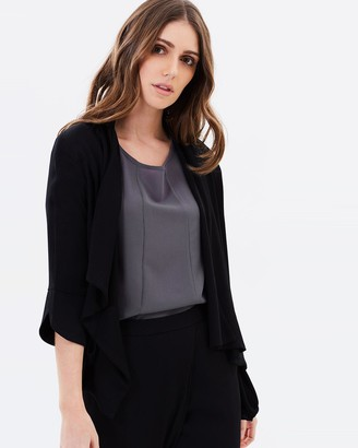 Privilege Crystal Falls Draped Front Jacket