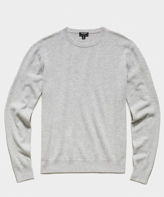 Todd Snyder Cashmere Crewneck Sweater in Dove Grey