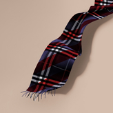 Burberry The Classic Cashmere Scarf in Check with Stripe Print