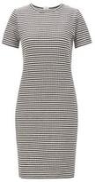 BOSS Bodycon dress in striped cotton-blend ottoman jersey