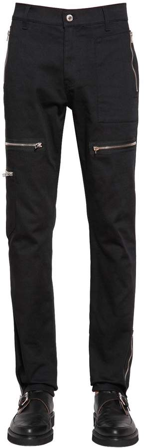 Moschino 18cm Stretch Cotton Bull Biker Pants
