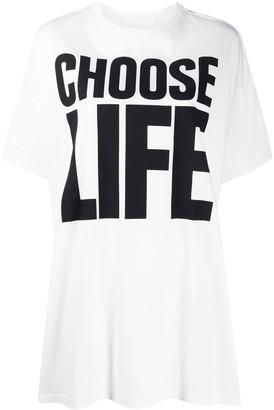 Katharine Hamnett Choose Life print oversized T-shirt