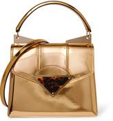 Sara Battaglia Cindy metallic patent-leather shoulder bag
