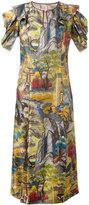 Antonio Marras forest (Green) print dress - women - Silk - 44