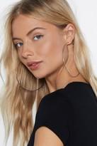 Nasty Gal 10cm Hoop Earrings