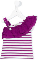 Junior Gaultier one shoulder striped top - kids - Cotton - 36 mth