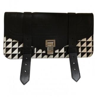 Proenza Schouler PS1 Black Leather Clutch bags