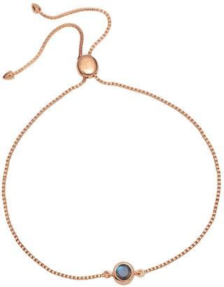 Lola Rose London Curio Stud Slider Bracelet Labradorite & Rose Gold