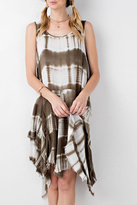 Easel Tie Dye Asymmetrical Dress