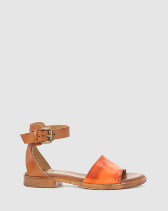 EOS Women's Orange Flat Sandals - List - Size One Size, 38 at The Iconic