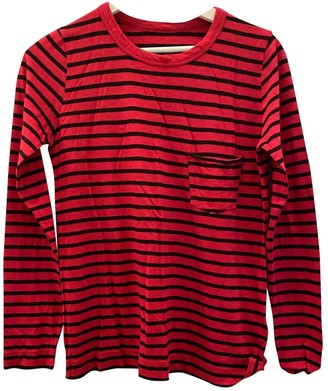 Zadig & Voltaire Spring Summer 2019 Red Cotton Top for Women