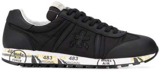 Premiata Leather Panelled Graffiti Soled Trainers