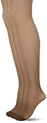 Pretty Polly Women's 15D Soft Shine Tights, 15 DEN,(Size:ML) (pack of 3)