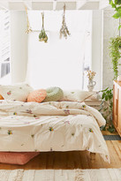 Urban Outfitters Georgine Embroidered Floral Duvet Cover