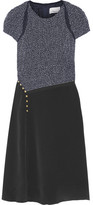 3.1 Phillip Lim Bouclé And Silk Crepe De Chine Dress - Midnight blue