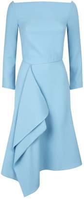 Roland Mouret Clover Off-The-Shoulder Draped Dress