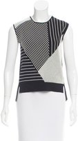 Timo Weiland Sleeveless Striped Knit Top