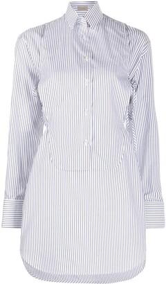 Mrz Detachable-Bib Striped Shirt