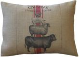 """Animal Stack Burlap Pillow, 12""""x16"""""""