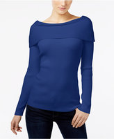 INC International Concepts Ribbed Off-The-Shoulder Top, Only at Macy's