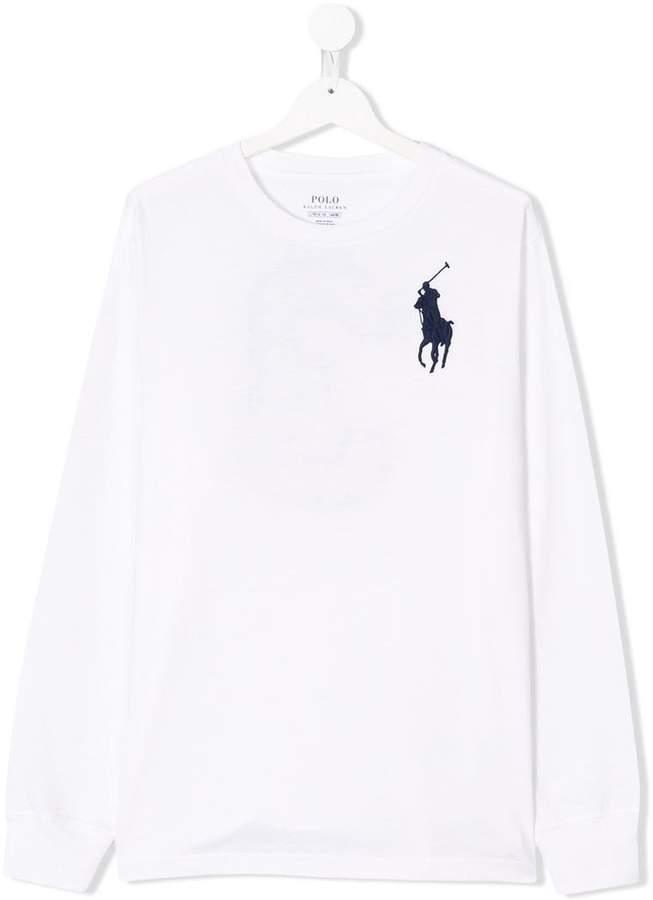 Ralph Lauren Kids TEEN logo embroidered T-shirt