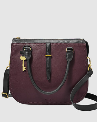 Fossil Ryder Purple Satchel Bag